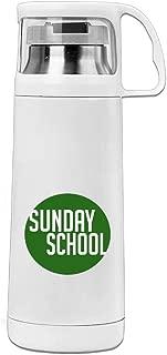 Karen Garden Sunday School Stainless Steel Vacuum Insulated Water Bottle Leak Proof Handled Mug White,12oz