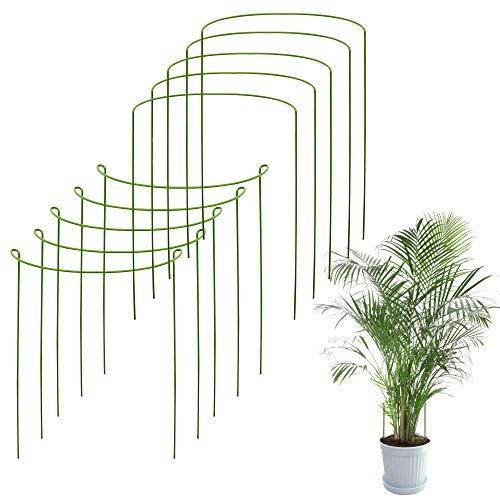 Odoxia Pack De 10 Soporte Plantas   para Plantas Y Flores Altas   Jaula De Soporte   Ayuda A Sus Plantas A Crecer   Jaula De Tomatera para Jardín   Varillas para Hortensias, Peonías y Más