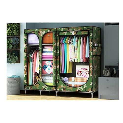 LYLY Kleiderschrank, tragbarer Stoff, Kleiderschrank, Organizer, Stoffschrank, Aufbewahrung, Organizer für Schlafzimmer, Kleidung, Kleiderschrank (Farbe: K)