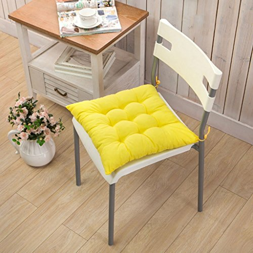 Josep. H 40 x 40 cm Home Office Décoration de tampons de coton doux carré Coussin d'assise, jaune, 40*40cm