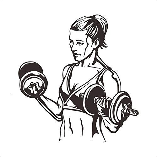 Vinilos Para Baños Mujeres, Diy Gym Sport Cotizaciones Palabras Extraible Gimnasio Etiqueta De La Pared Moda Gimnasio Decoracion Del Hogar Mural Puerta Cocina Niños 58x61cm