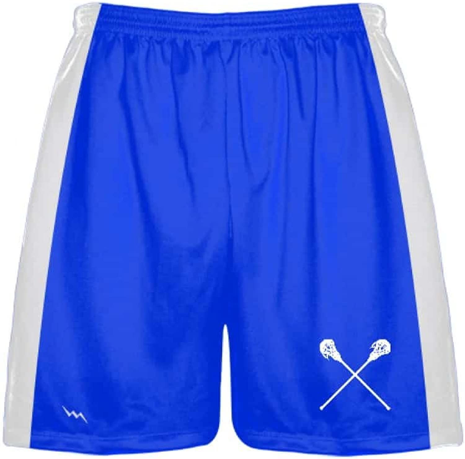 LightningWear Royal blueee Lacrosse Shorts  Mens and Boys Polyester Lacrosse Shorts  Sublimated Lax Shorts