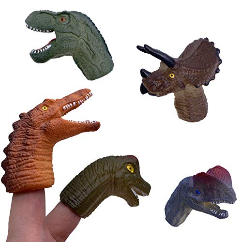WK-Realistic Dinosaur Finger Puppets, 5PCS Toy Set, Party Toys and Role Playing Toys for Kids and Adults