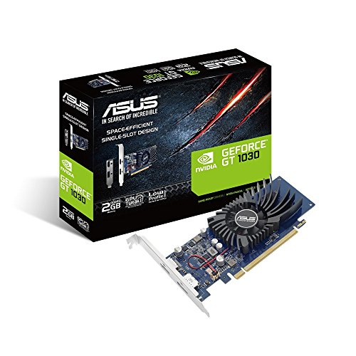 ASUS GeForce GT 1030 2 GB GDDR5, Scheda Video Gaming e Multimediale per HTPC Compatti e Build Low Profile, Incluso Bracket Aggiuntivo I/O