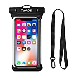 TOPACE wasserdichte Handytasche Handyhülle, Universal Handy wasserdichte Hülle für iPhone 11 Pro Max/Samsung Galaxy Note 10 Plus/A50/A40/A70/iPhone XS Max/XR/S10 Plus Weniger als 6,8 Zoll Smartphone