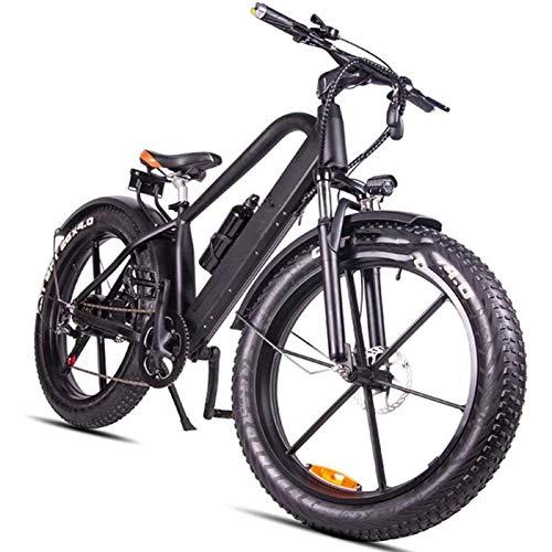 Bicicleta de montaña eléctrica, 26 pulgadas Fat Tire Bicicleta eléctrica 400W 48V...