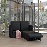 <span class='highlight'>Festnight</span> 2 Piece <span class='highlight'>Garden</span> <span class='highlight'>Lounge</span> <span class='highlight'>Set</span> with Cushions/<span class='highlight'>Rattan</span> Sofa <span class='highlight'>Furniture</span> <span class='highlight'>Set</span> with Cushion, for Patio, Balcony or <span class='highlight'>Garden</span> Poly <span class='highlight'>Rattan</span> Black