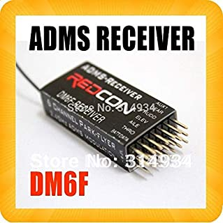 Hockus Accessories 5PCS DM6F DMSS allmax 2.4G 6 Channe JR XG7/XG8/XG11 Transmitter ADMSl 6ch RX Receiver for Park Flyer Rc Helicopter Toy Sports
