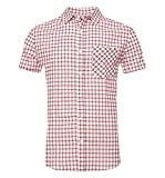 NUTEXROL Camisas de Hombre Camisa a Cuadros Camisas de Vestir, Casual, Cómodo y Moderno para...