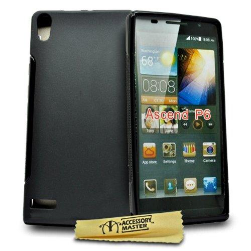 Accessory Master Gel Silikon Tasche für Huawei Ascend p6 schwarz