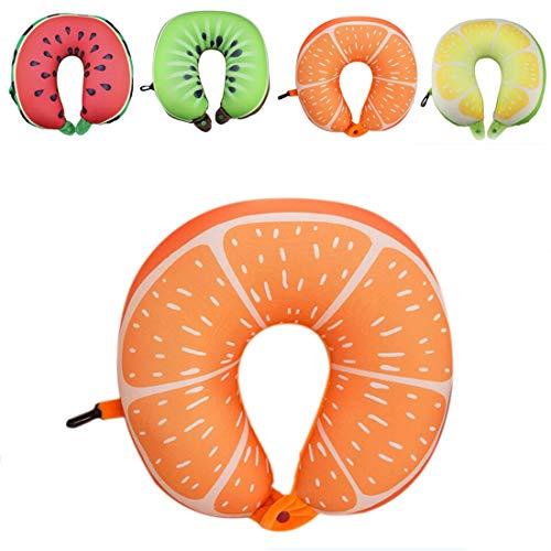 U-förmiges Reisekissen Nanopartikel Nackenkissen Wassermelone Zitrone Kiwi Orange Kissen Weiches Kissen Heimtextilien