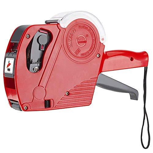 TKSTAR - Etiquetadora de precio - etiquetadora con 1 bobina de etiquetas y 1 cartucho de tinta - JU5500EOS, color rojo one size
