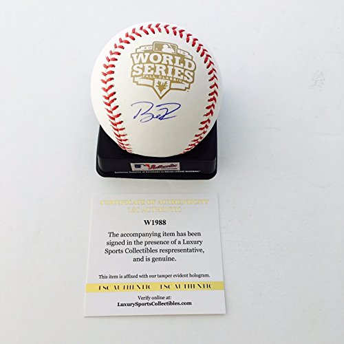 Giants Buster Posey signed Official 2012 World Series Baseball LSC Witness COA