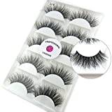 3D Mink False Eyelash LASGOOS Degisn Luxurious Natural Messy Volume Fluffy Long Hot Fake Eyelashes 5 Pairs/Box A11-5