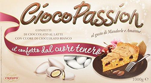 Crispo Confetti Cioco Passion Mandorle e Amarene - Colore Bianco - 3 confezioni da 1 kg [3 kg]