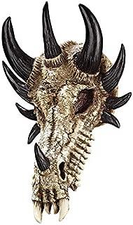 Design Toscano Manchester's Dragon Bones Sculptural Skull Wall Trophy