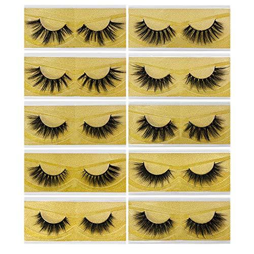 Wimpern, Künstliche Wimpern, 10 Paar Lange Falsche Wimpern, Gefälschte Wimpern, Wiederverwendbare Fake Dicke Wimpern Lashes, Natürliche Schwarz Lange Wimpern Künstliche für Make up