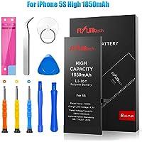 Batería para iPhone 5S 1850mAH Reemplazo de Alta Capacidad, FLYLINKTECH Batería con 19% más de Capacidad Que la batería Original y con Kits de Herramientas de reparación, Cinta Adhesiva