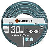 Tubo GARDENA Classic da 13 mm (1/2'), 30 m: Tubo da giardino universale, pressione di scoppio 22 bar, senza componenti di sistema (18009-20)