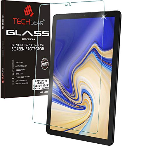 TECHGEAR Anti-Glare Screen Protector Compatible with Samsung Galaxy Tab S4 10.5'(SM-T830 Series) - MATTE GLASS Edition Genuine Tempered Glass Screen Protector Guard Cover