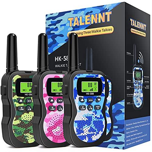 Walkie Talkies for Kids, Toys for 5 6 7 8 9 10 Year Old Boys Girls Range Up to 3 KM 3 Pack Kids Walkie Talkies Best Christmas Birthday Gifts for 5 6 7 8 9 10 Year Old Boys Girls