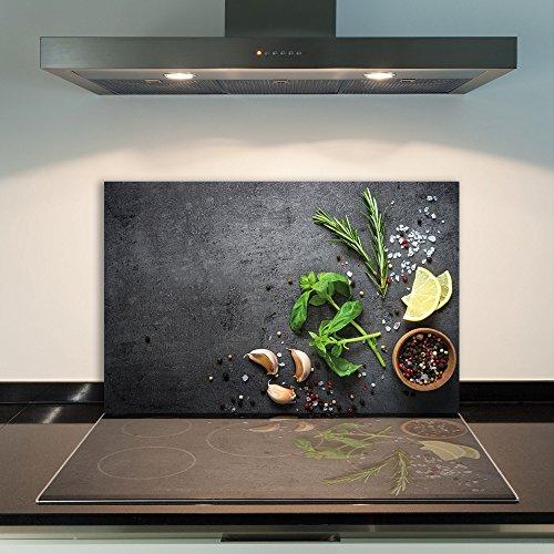 CTC-Trade | Herdabdeckplatten 80x52cm Ceranfeld Abdeckung Glas Spritzschutz Abdeckplatte Glasplatte Herd Ceranfeldabdeckung Küche Schwarz Grün
