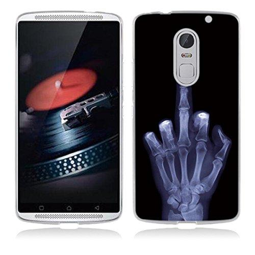 Lenovo Vibe X3 Hülle, Lenovo Vibe X3 Flexible Hülle, Gift_Source [ Mittelfinger ] Schutz-Hülle Silikon TPU transparent ultra-slim Hülle Cover ultra-thin durchsichtig für Lenovo Vibe X3 5.5 inch