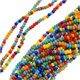 Jablonex Czech Seed Beads Mix, Size 11/0, Rainbow Opaque Multi, 1 Hank Per 4000 Beads