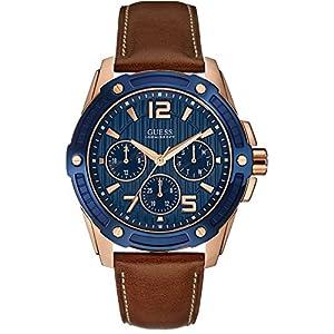 Guess Reloj analogico para Hombre de Cuarzo con Correa en Piel W0600G3