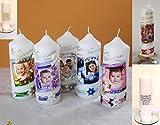 Weihnachtskerzen,Weihnachtsgeschenk- ' mit Foto ,Weihnachtsgeschenk-Spruch-Junge,Mädchen-rot,lila,blau,grün B076HY7PT4