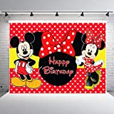 zlhcgd 7x5FT Minnie Mouse Photography Photo Background for Kids Birthday Party Backdrops Decoration