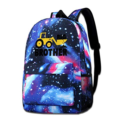 AOOEDM School Bag,Big Brother Gift for Tractor School Backpack Galaxy Starry Sky Book Bag Kids Boys Girls Daypack