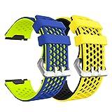 Syxinn Compatible para Fitbit Ionic Correa de Reloj, Banda de Reemplazo Silicona Suave Sports Pulsera para Ionic Watch (B3, 2 Paquete)