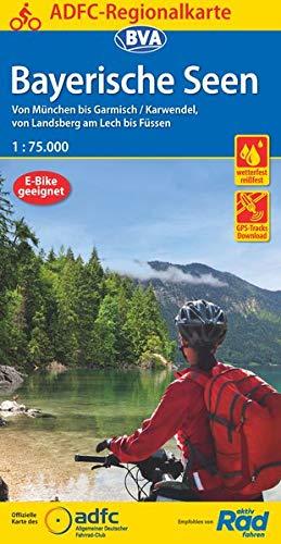 ADFC-Regionalkarte Bayerische Seen, 1:75.000, reiß- und wetterfest, GPS-Tracks Download: Von München bis Garmisch/Karwendel, von Landsberg am Lech bis Füssen (ADFC-Regionalkarte 1:75000)