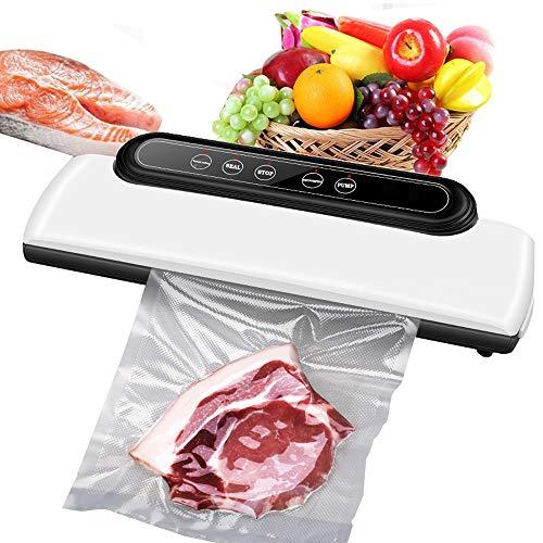 Macchina per sottovuoto 5 in 1 automatica One Touch con 30 sacchetti per sottovuoto per alimenti, modalità di asciugatura e umidità