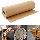 Rollo de papel de estraza marrón, 45 cm x 30 m, papel reciclado natural para envolver regalos, manualidades, almacenaje, embalaje, envío, paquete de papel decorativo