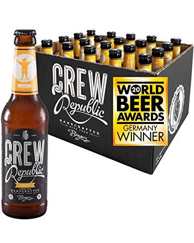 CREW REPUBLIC® Easy - Obergärig Hell Craft Bier   Gewinner World Beer Awards 2020 Golden Ale   Frisch mit Hopfennote   Bierspezialität nach deutschem Reinheitsgebot in Bayern gebraut (20 x 0,33l)