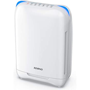 RENPHO Air Purifier for Home Bedroom Allergies and Pets Hair,True H13 HEPA Filter Air Purifier for Large Room 301 SQ.FT,Filters Pollen, Smoke, Dust, Pet Dander, Eliminates Germs, Mold,Odors,Ozone Free
