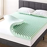Best Price Mattress 4 Inch Egg Crate Memory Foam Mattress Topper with Calming Aloe Infusion, CertiPUR-US Certified, Twin,ALEC-4T,Green