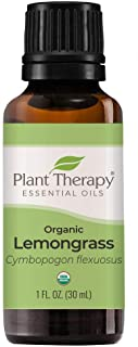Plant Therapy Organic Lemongrass Essential Oil 100% Pure, USDA Certified Organic, Undiluted, Natural Aromatherapy, Therape...