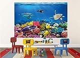 GREAT ART XXL Poster Aquarium Meerestiere | farbenfrohe Unterwasserwelt Meeresbewohner Ozean Fische Riff Delphin Schildkröte Korallenriff | Wandbild Fotoposter Wanddeko Fototapete | 140 x 100 cm - 8