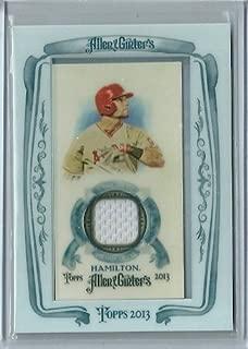 2011 Allen & Ginters Baseball Josh Hamilton Game Worn Jersey Card