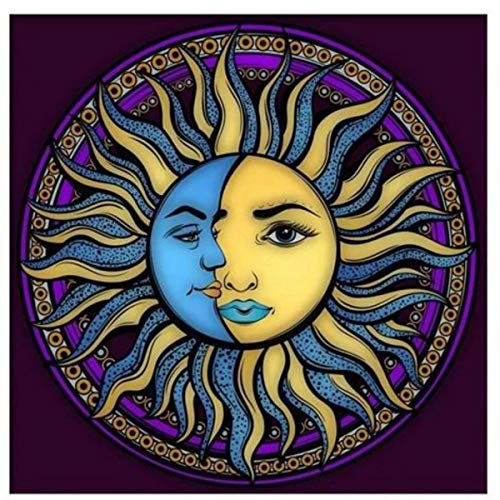 Toalha Esoterica Sol Lua Tarot Astrologia Vela 7dias Magenta Cx mdf