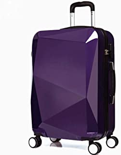 Fructose-Colored Three-Dimensional 3D Personality Trolley case Out of Travel Suitcase Purple 24 inch