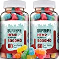 Supreme Hemp Gummies - 5000-120ct - Hemp Extract Infused - Relaxing, Pain Relief, Stress & Anxiety Relief, by New Age Naturals by New Age