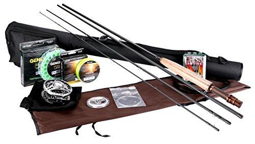 Goture Fly Fishing Rod et Reel Combos Kit 5//6 7//8 avec p/êche Mouches Ligne Rod Case
