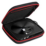 External CD/DVD Drive for Laptop USB 3.0 Type-C Portable CD/DVD +/-RW Drive Slim DVD/CD ROM Rewriter Burner with Protective Storage Carrying Case Bag