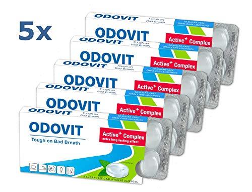 Mundgeruch - dagegen hilft ODOVIT : 5x Mundpflege-Bonbons 10er - Stark gegen Mundgeruch - mild im Geschmack - für nachhaltig frischen Atem