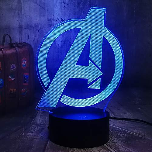 Lámpara de escritorio de la mesa de la ilusión óptica 3d de wangZJ/navidad de los niños/luz de la noche para los niños Luz de la noche de la ilusión 3d / Marvel Comics