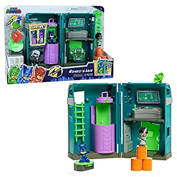 PJ Masks Nighttime Micros Romeo's Lair Playset Includes Catboy and Romeo Mini Figures by Just Play